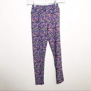 Lularoe floral geometric Tween leggings